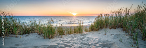 Sunset at the dune beach - 334601951
