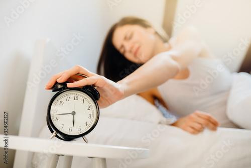Alarm clock ringing Canvas Print