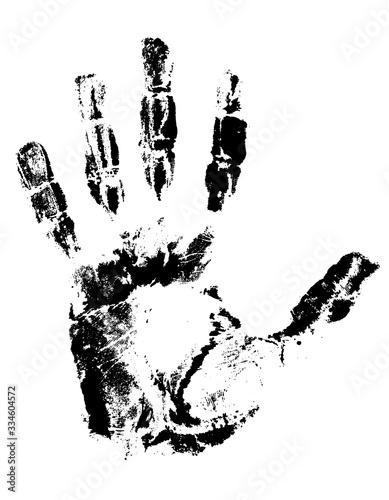 handprint black vector illustration Tapéta, Fotótapéta