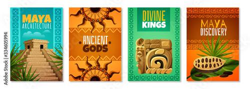 Photo Maya Civilization Cartoon Posters
