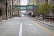 Empty City Street From Corona Virus