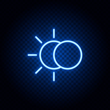 Eclipse Blue Neon Icon - Vecto...