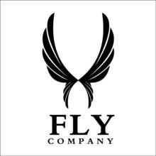 Flying Wings In Lightbulb Symb...