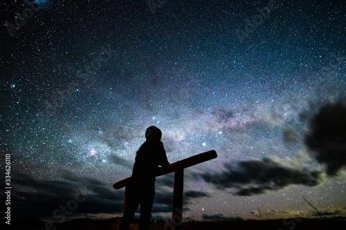 stargazing in tekapo, new zealand4 Canvas Print