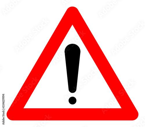Obraz warning someone to avoid something. warning sign vector. - fototapety do salonu