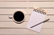 コーヒーとカレンダー(八月)