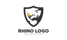 Rhino Simple Vector Logo Design