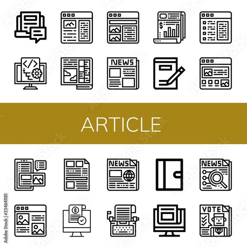article simple icons set Canvas Print