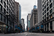 canvas print picture - Chicago on Stay-At-Home Order Due to the Coronavirus (Covid-19)