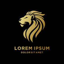 King Lion Head Logo Template, ...