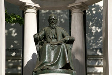 Memorial Statue Of William Cullen Bryant In NYC Park