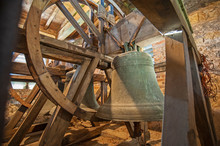 Large Old Bells In A Church To...
