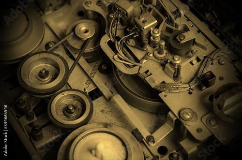 Fototapety, obrazy: Old reel tape recorder.