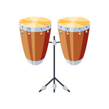 Congas Drums With Tripod On Wh...