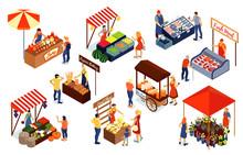 Farm Market Isometric Set