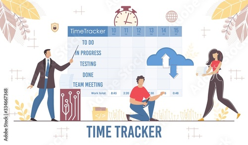 Photo Effective Time Tracker Planner for Business Presentation