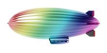 Rainbow Colored Zeppelin Isola...