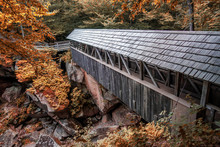 A Covered Bridge In The Flume ...