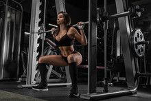 Sportive Young Woman In A Gym ...