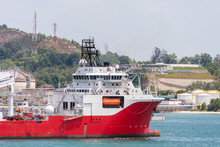 A Dynamic Positioning Vessel Entering Port Area For Berthing