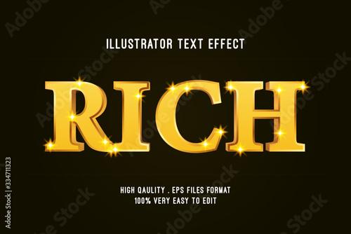 Fotografía 3D Rich Gold luxury Text effect, Editable text
