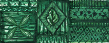 Green Brocade Mandala Pattern ...