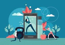 Sport Training Online, Vector ...