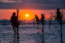 Traditional Stilt Fisherman At...