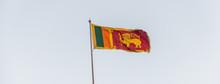 Sri Lanka Flag On Blue Sky