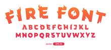 Fire Alphabet. Burning Letters...