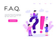 Landing page template of Frequently Asked Question Concept. Modern flat design concept of web page design for website and mobile website