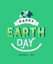 Earth Day Vintage Green Letter...