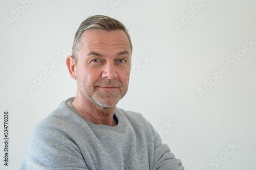 Half-turn bust portrait of middle-aged man Tablou Canvas