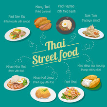 Thai Street Food Vector Set Collection Graphic Design