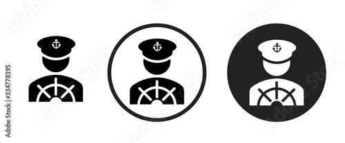 Vászonkép captain icon . web icon set .vector illustration