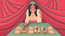 Woman Reading Tarot Cards With...