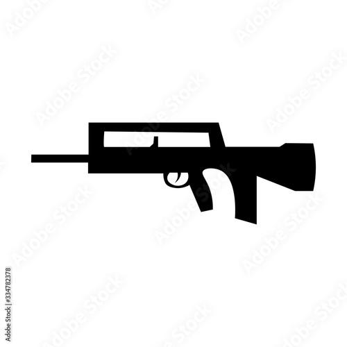 Machine sign black icon ak 47. Vector illustration eps 10 Canvas Print