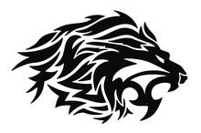 Lion Roaring Vector Icon Logo ...