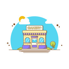 Cake Shop Vector Icon Illustra...