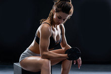 Athletic Young Woman Doing A F...