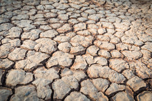 Dry Red Clay Soil Texture, Natural Floor Background