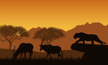 Illustration Of African Landsc...