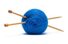 Yarn With Knitting Needles