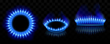 Gas Burner With Blue Flame, Gl...