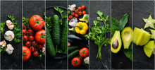 Photo Collages. Fresh Vegetabl...