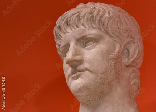 Bust of emperor Nero Canvas-taulu