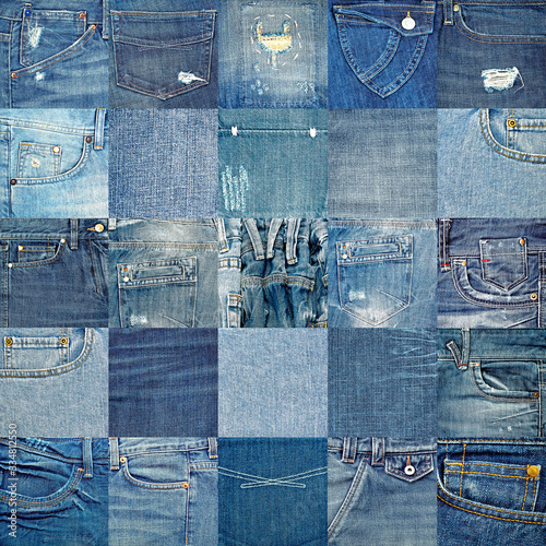 Fotomural blue jeans background with copy space for your text