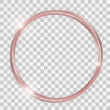 Triple Rose Gold Shiny Circle ...