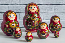 A Set Of Bright Red Wooden Lac...