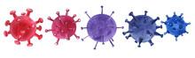 Covid-19.Coronavirus Cells Set...